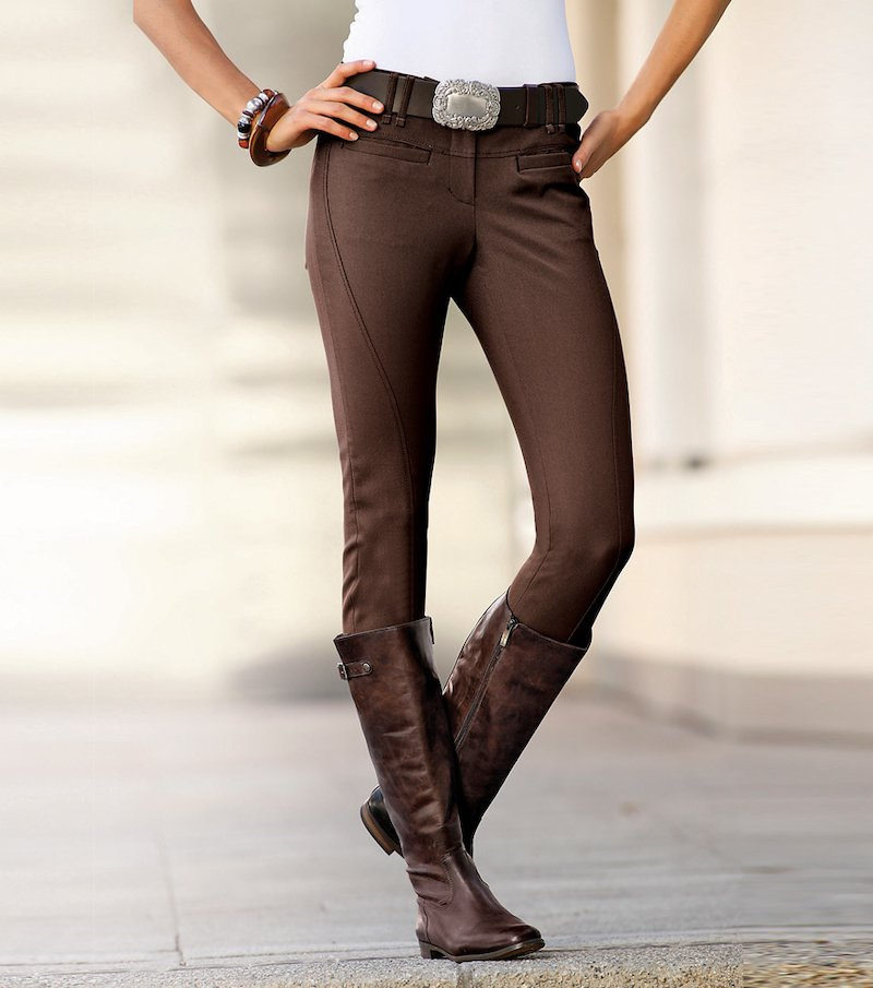 Pantalón largo mujer corte hípico