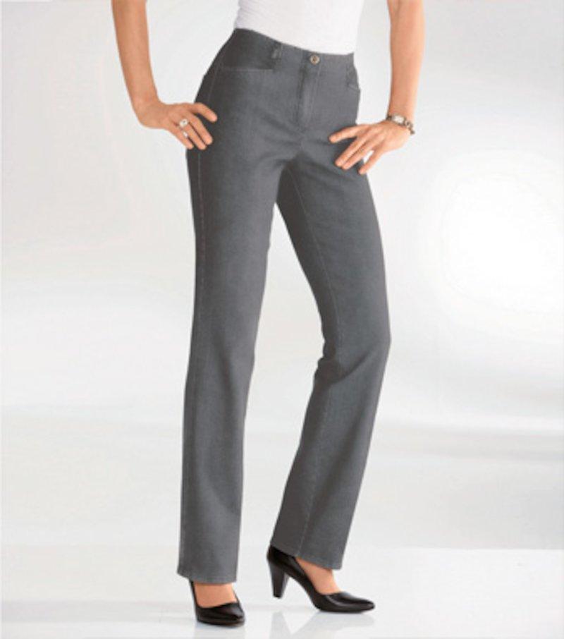 Pantalón largo mujer recto cintura elástica
