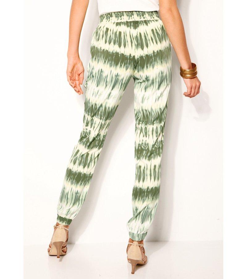 Pantalón largo mujer estampado degradado - Verde