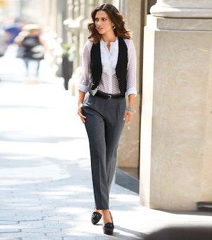 Pantalon Mujer De Vestir Tiro Alto
