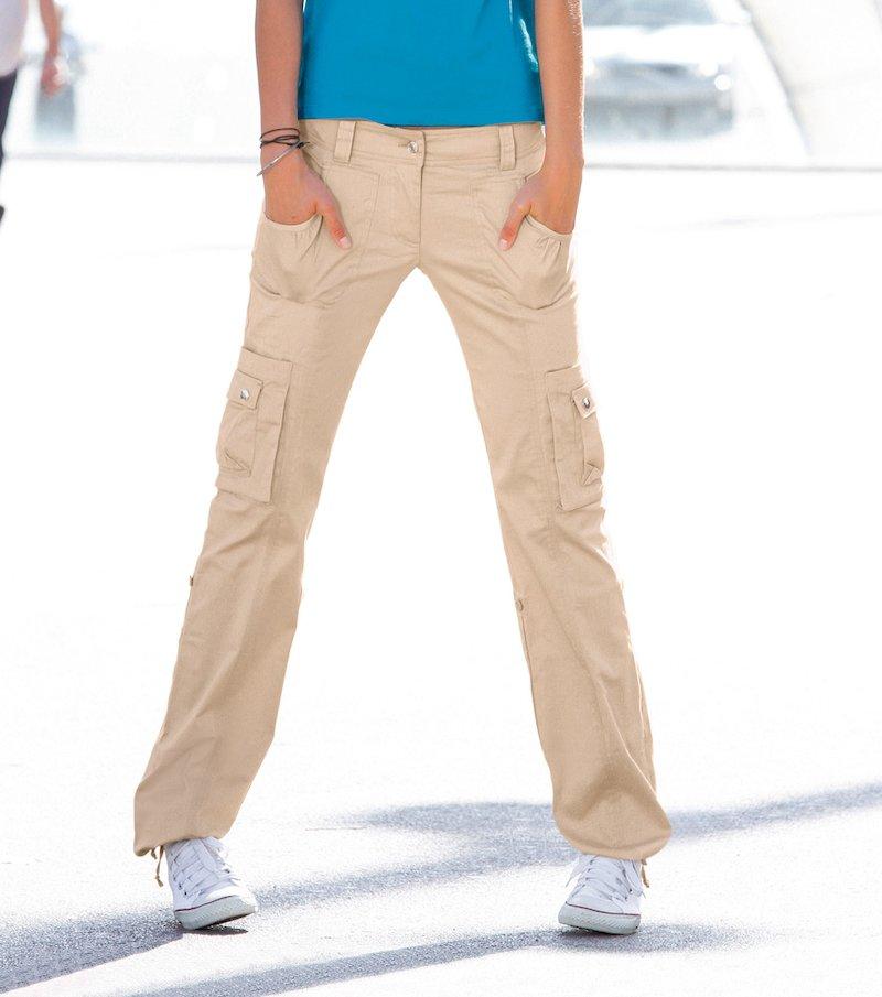 Pantalón mujer multibolsillos 100% algodón