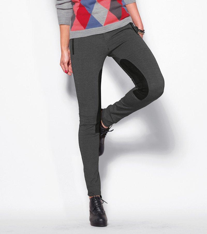 Pantalón largo mujer corte hípico milano antelina
