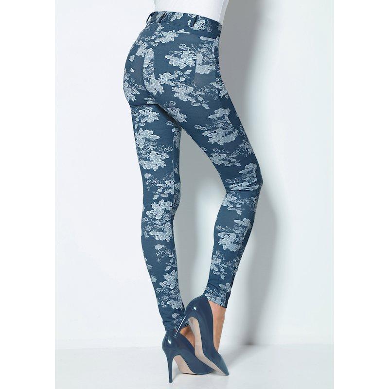 Pantalón de mujer con tiro alto felpa estampada