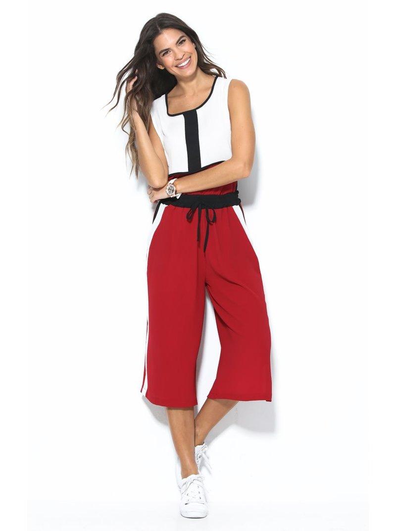 Pantalón capri ancho sport para mujer