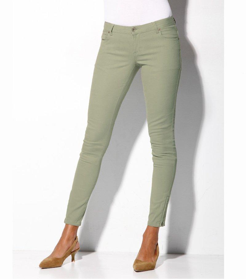 Pantalón largo mujer con cremalleras elástic