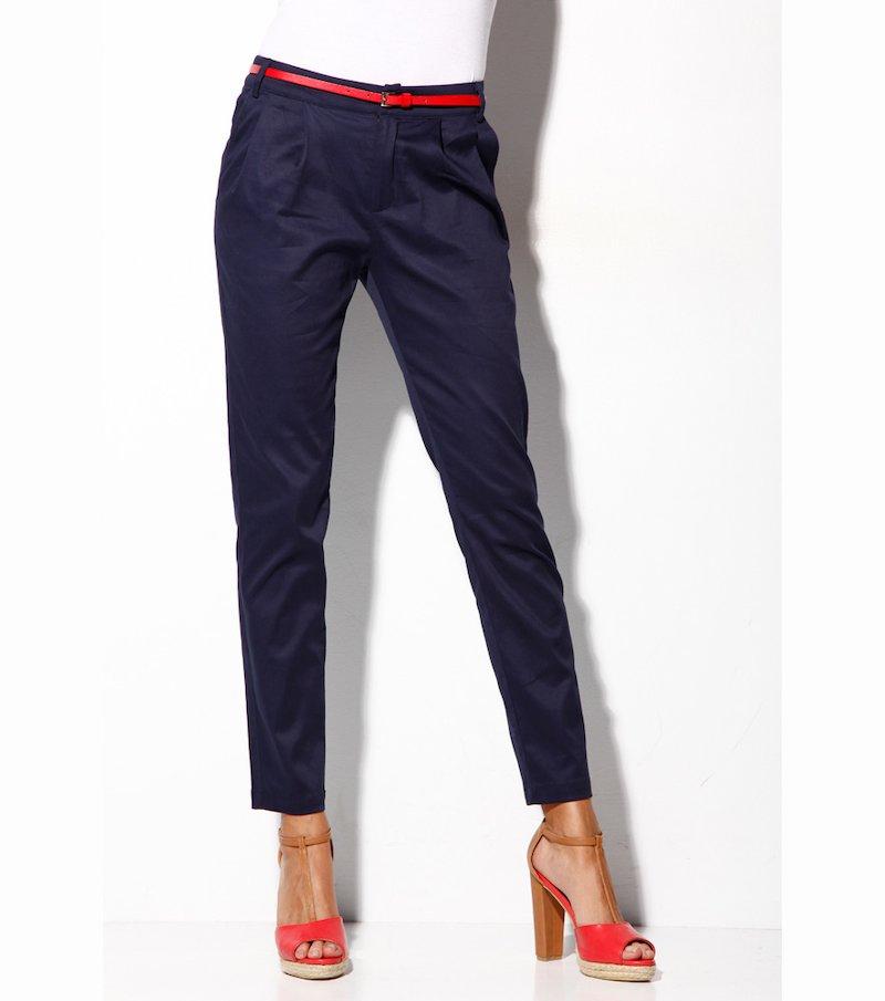 Pantalón largo mujer satinado elástico