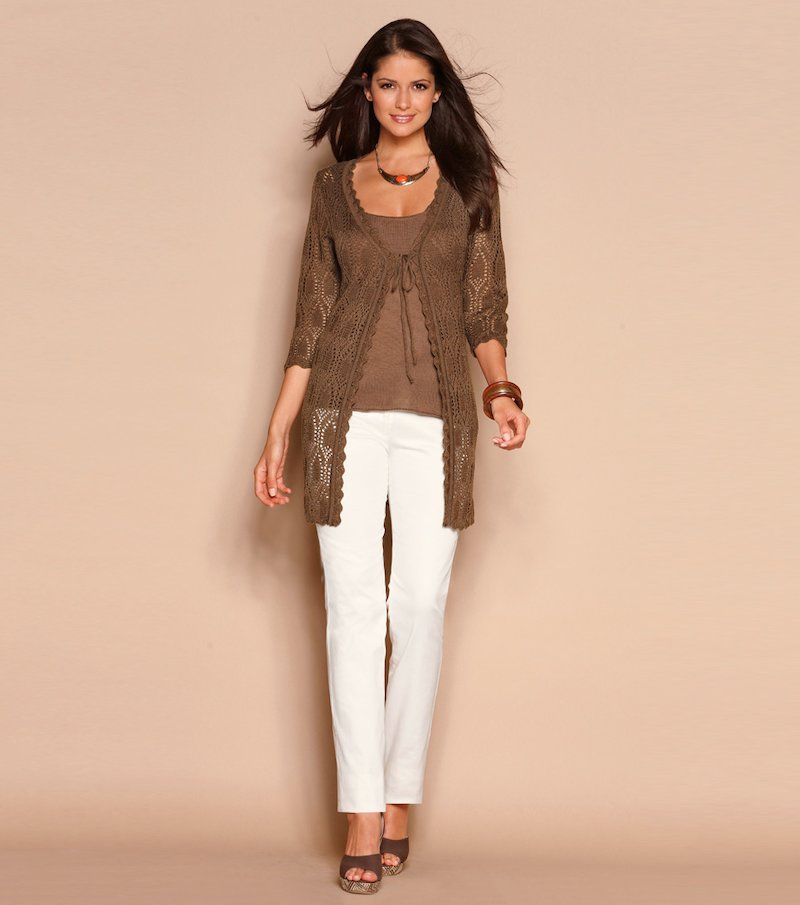Pantalón largo de vestir mujer elástico