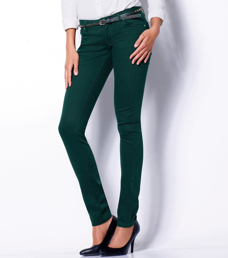 Pantalón largo mujer sarga elástica
