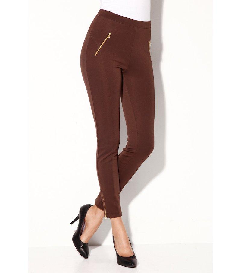 Pantalón largo mujer elástico con cremalleras
