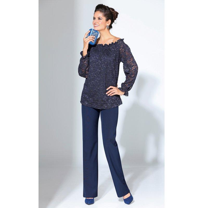 Pantalón mujer de vestir de tiro alto corte recto