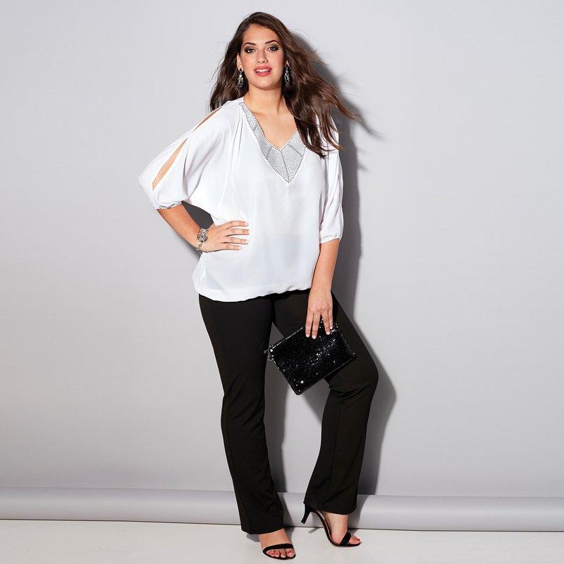 Pantalón mujer con cinturilla trasera elástica