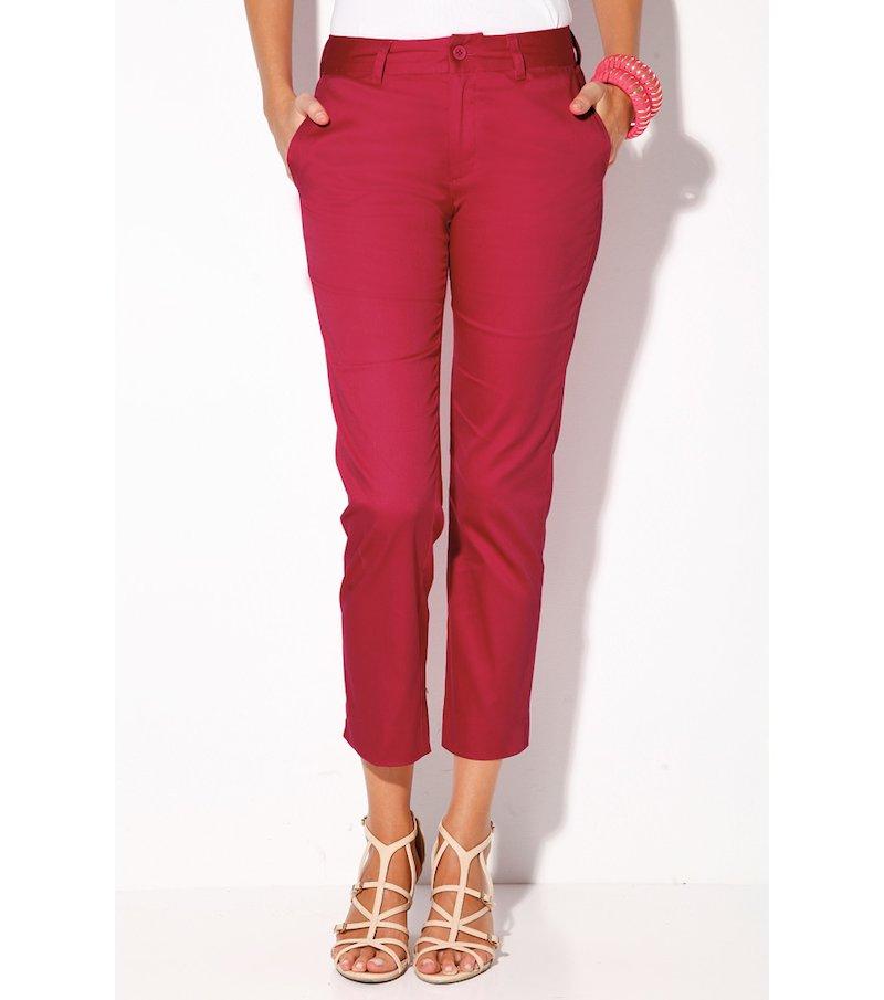 Pantalón corsario mujer elástico