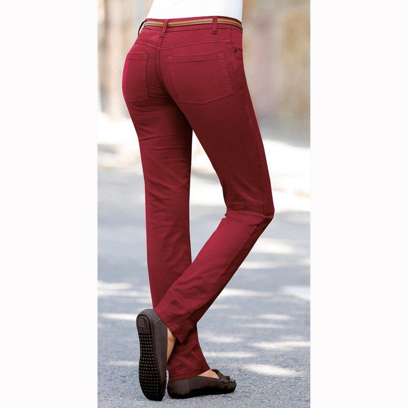 Pantalón largo de mujer elástico de tiro alto