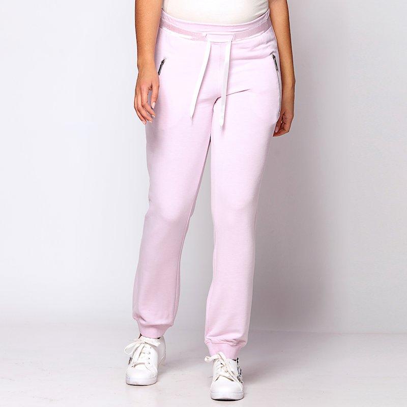 Pantalón felpa cintura con elástico interior y cinta de saté