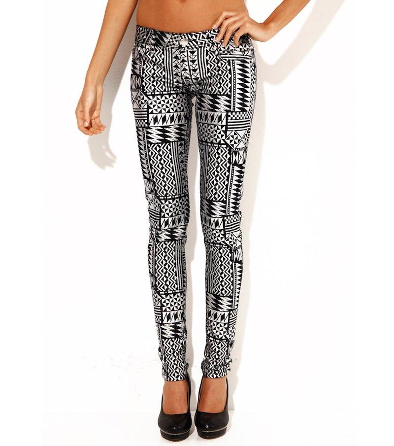 Pantalón largo mujer metalizado