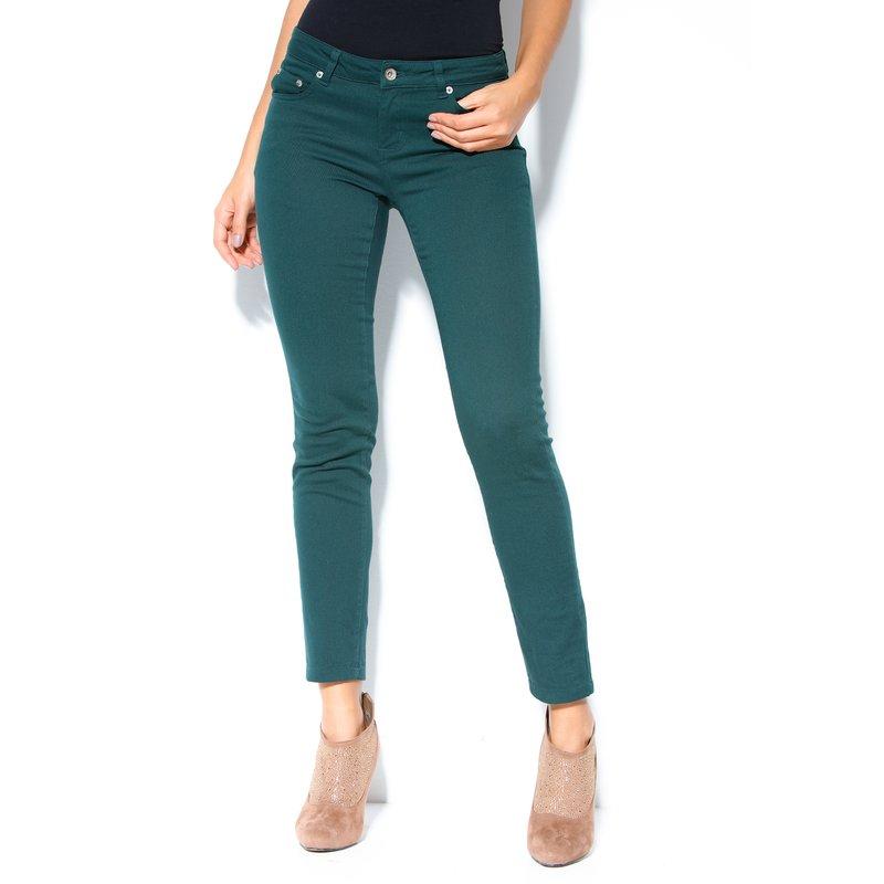 Pantalón largo mujer corte 5 bolsillos elástico