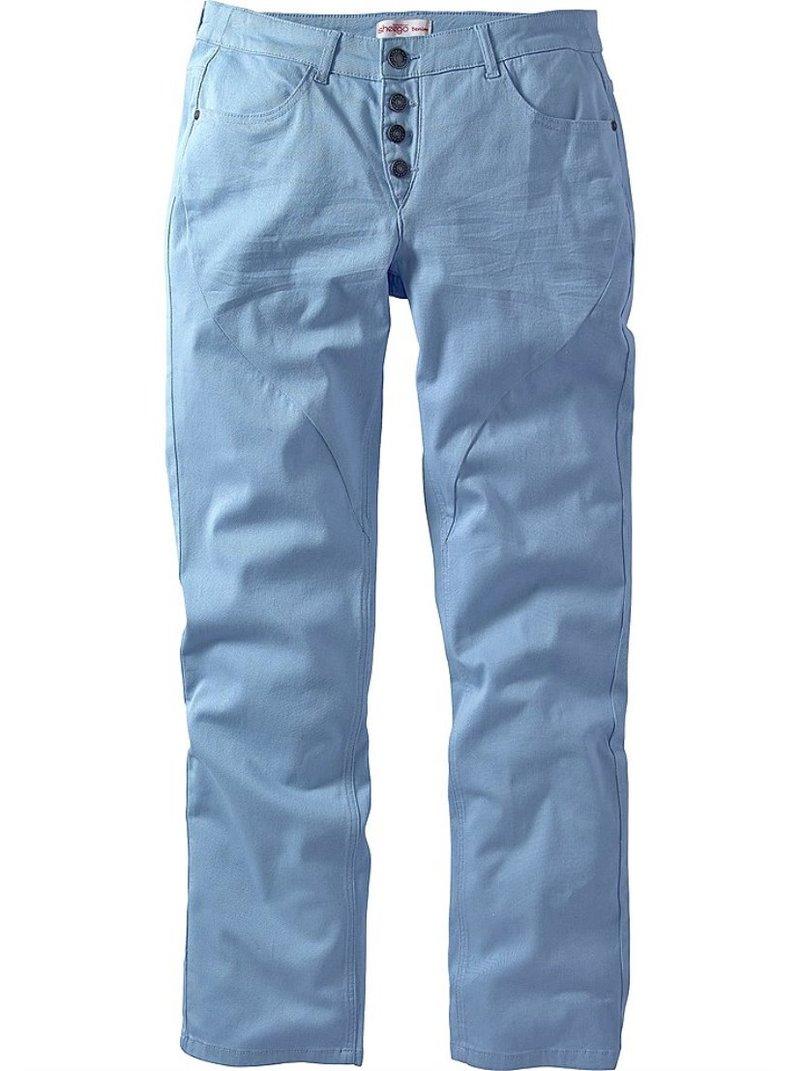 Pantalón largo de sarga mujer