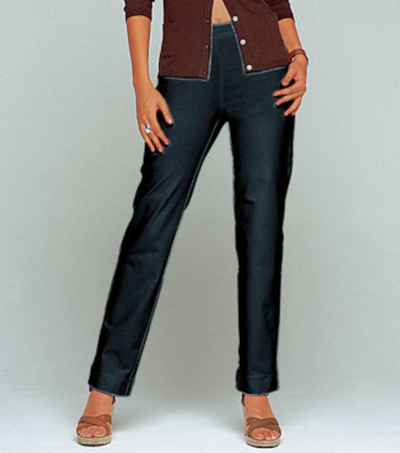 Pantalón largo mujer tiro alto vientre plano