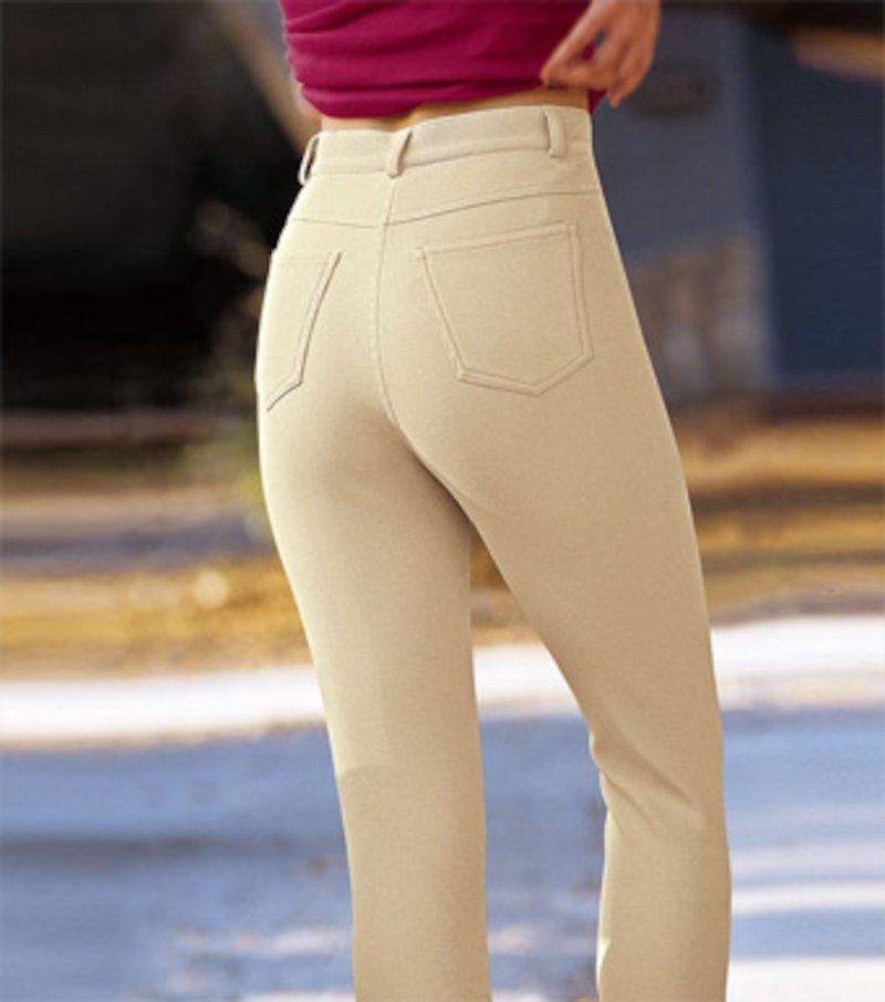 Pantalón pitillo mujer otomán elástico