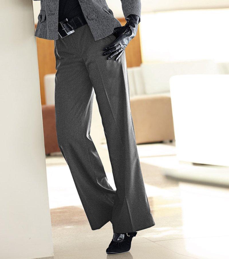 Pantalón largo mujer de corte recto y tiro alto