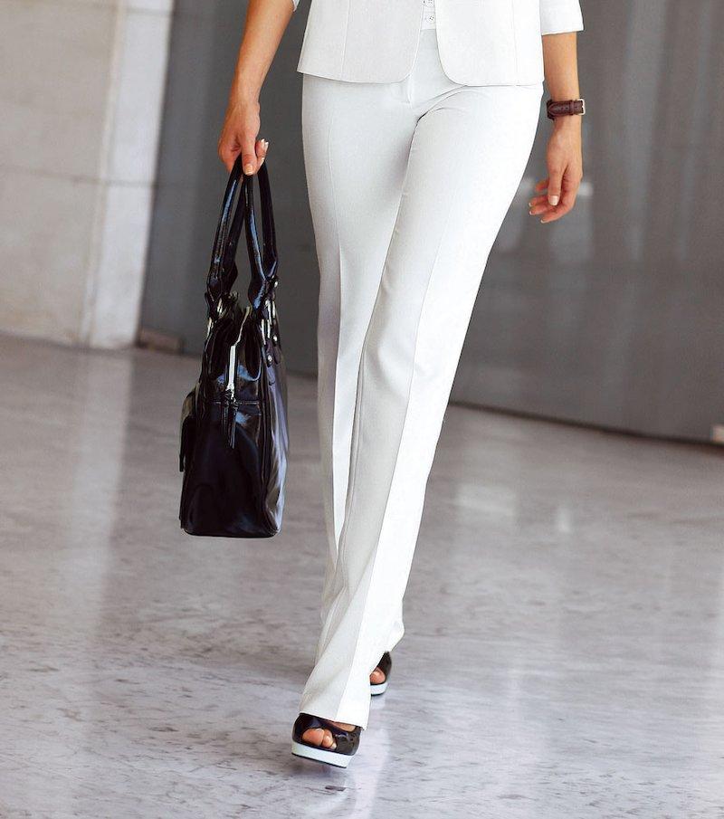 Pantalón largo mujer corte recto biextensible