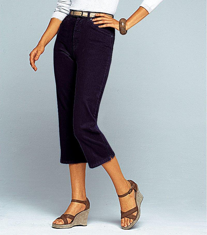 Pantalón pirata mujer de tiro alto