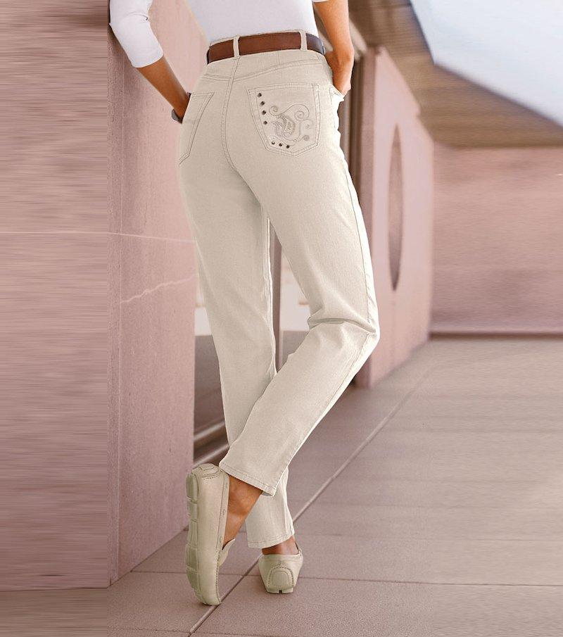 Pantalón 5 bolsillos - Beige