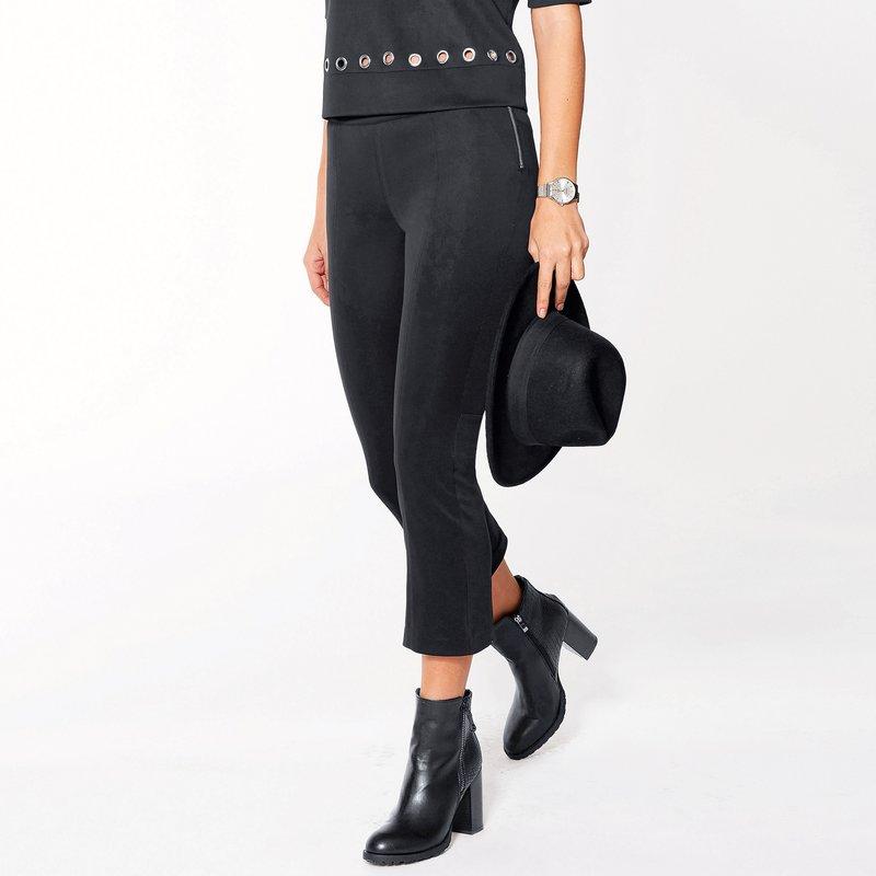 Pantalón largo tregging mujer en neopreno elástico
