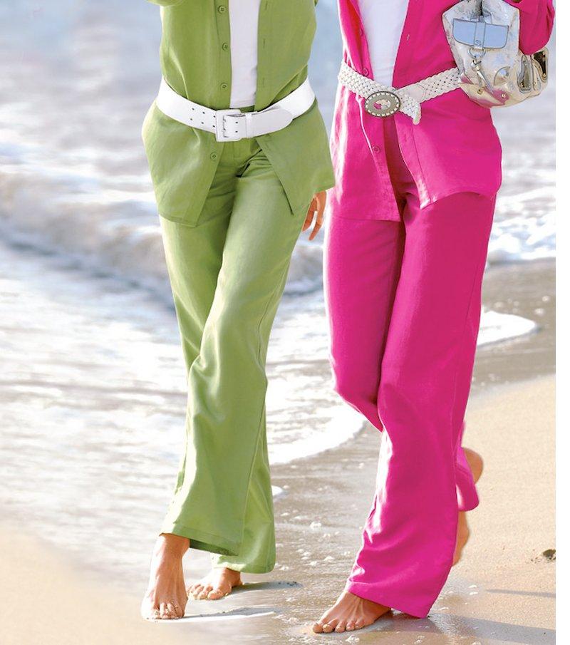 Pantalón recto de vestir de lino