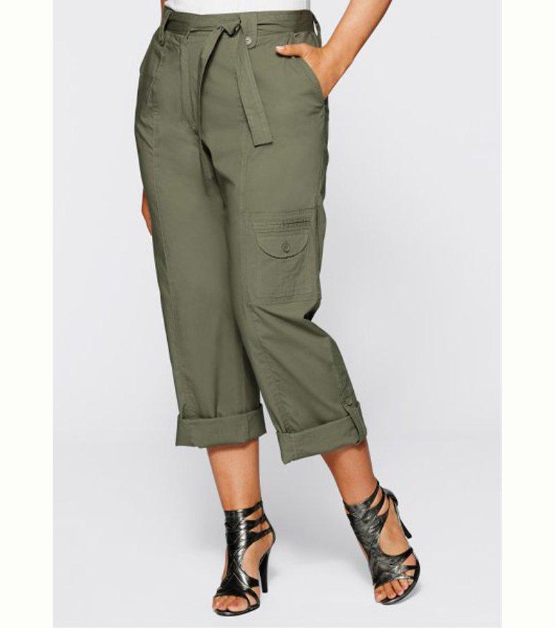 Pantalón cargo multibolsillos mujer