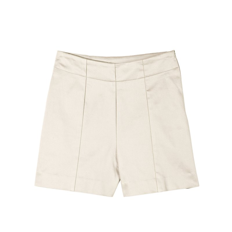 Pantalón short mujer twill elástico satinado