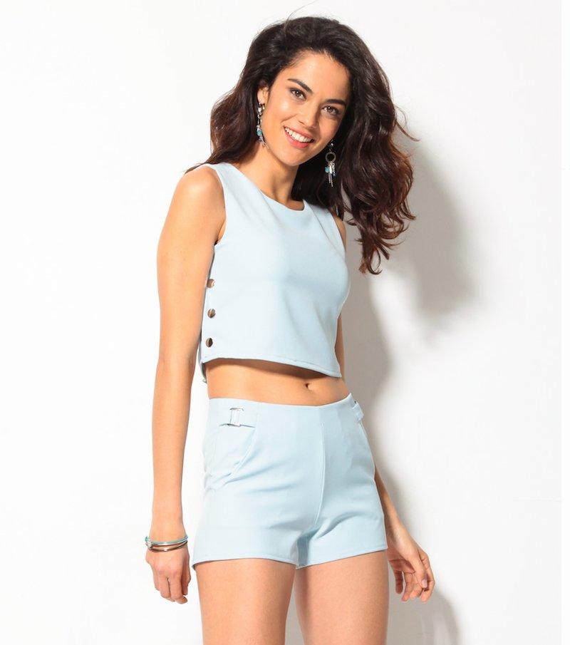 Pantalón corto short para mujer azul