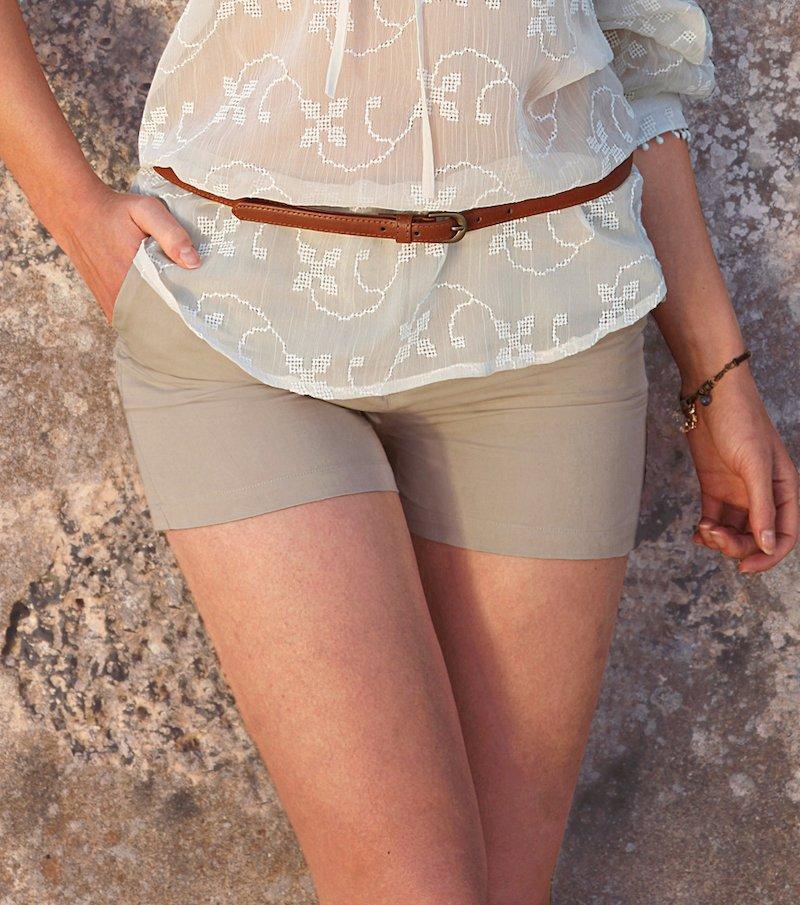 Pantalón corto short mujer 100% algodón