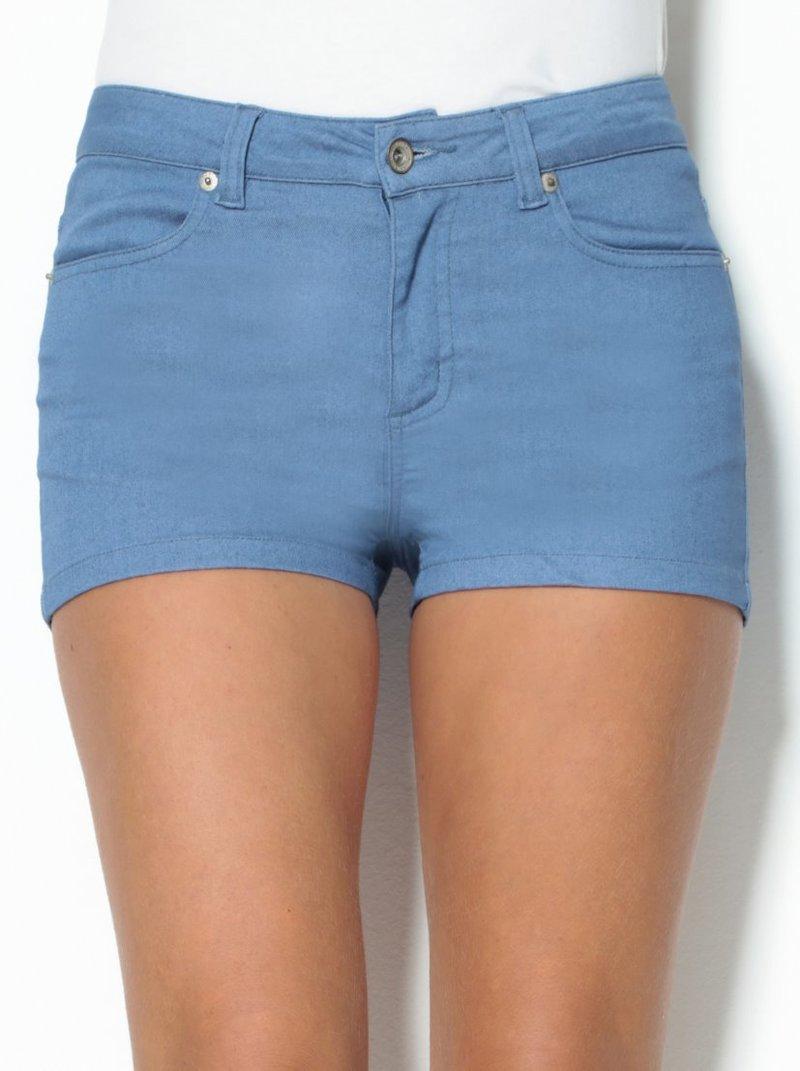 Pantalón corto short mujer de tiro medio con bolsillos