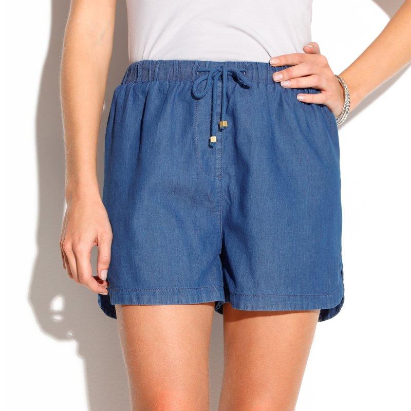 Pantalón corto short tejido vaquero