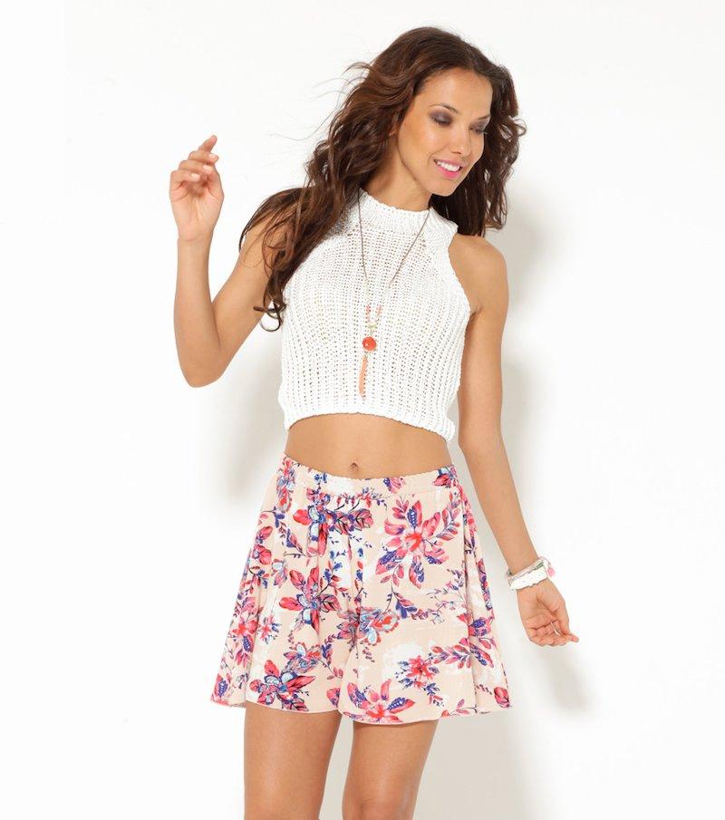Pantalón short mujer estampado