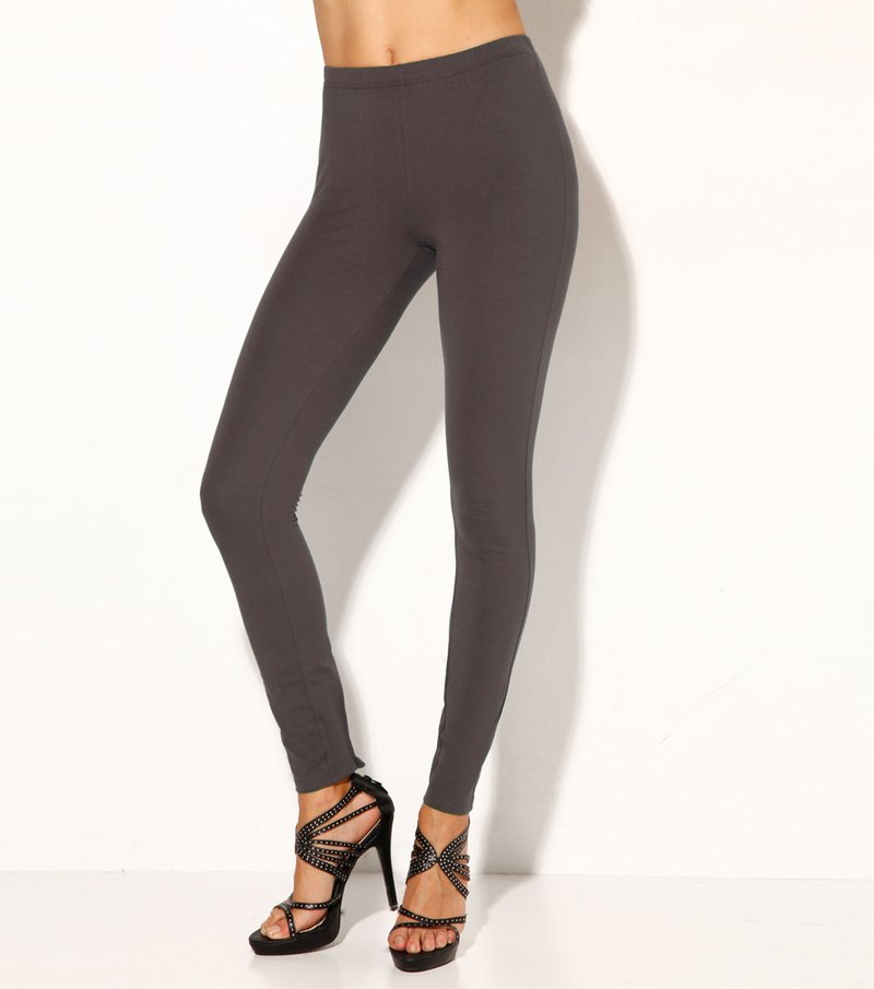 Pantalón legging mujer de punto elástico - Marrón