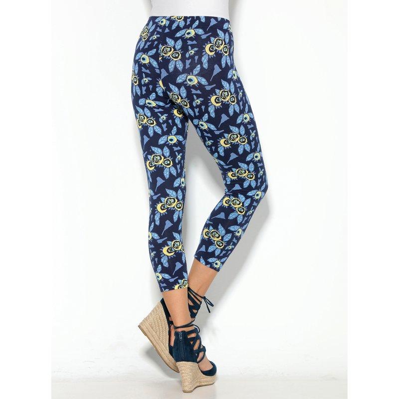 Pantalón legging pitillo capri floral sin costuras