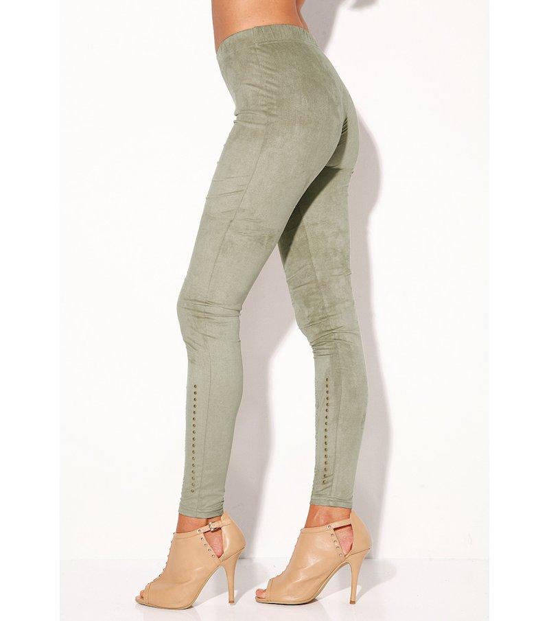 Legging mujer elástico con tachuelas metálicas