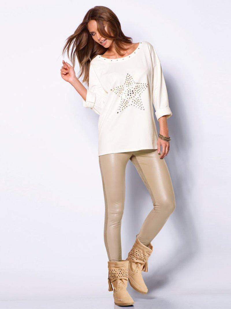 Pantalón legging mujer con antelina