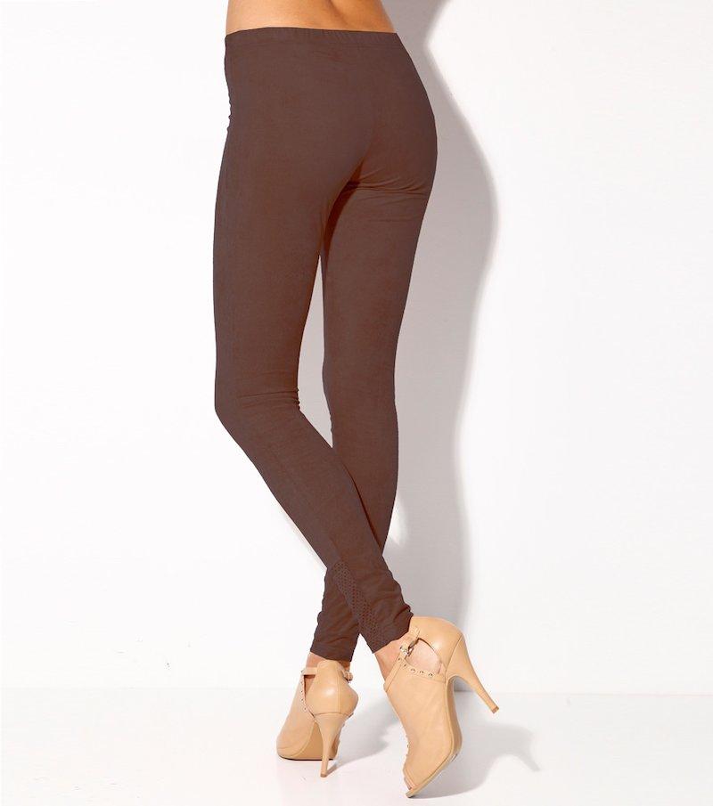 Pantalón largo legging mujer antelina elástica