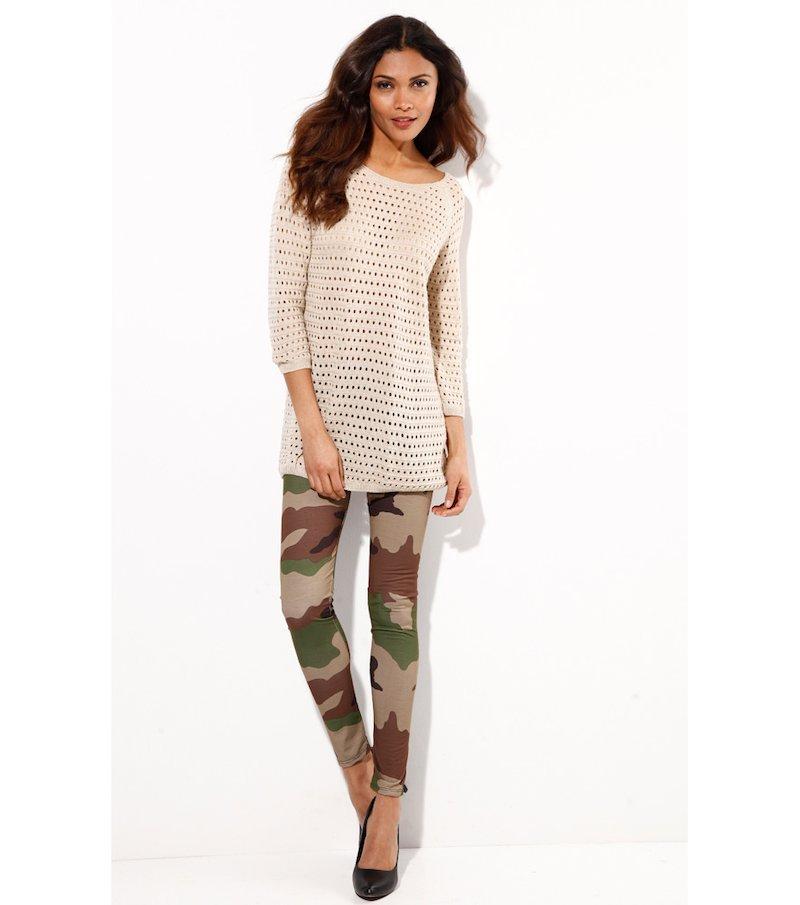 Pantalón largo legging estampado camuflaje