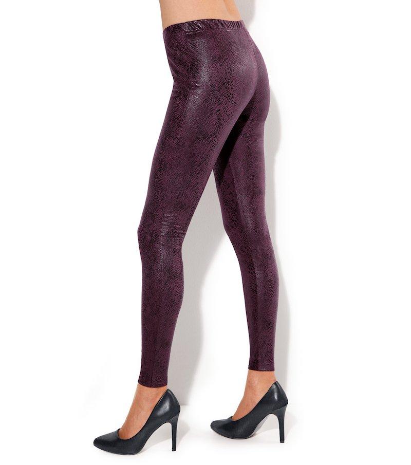 Pantalón legging de antelina para mujer