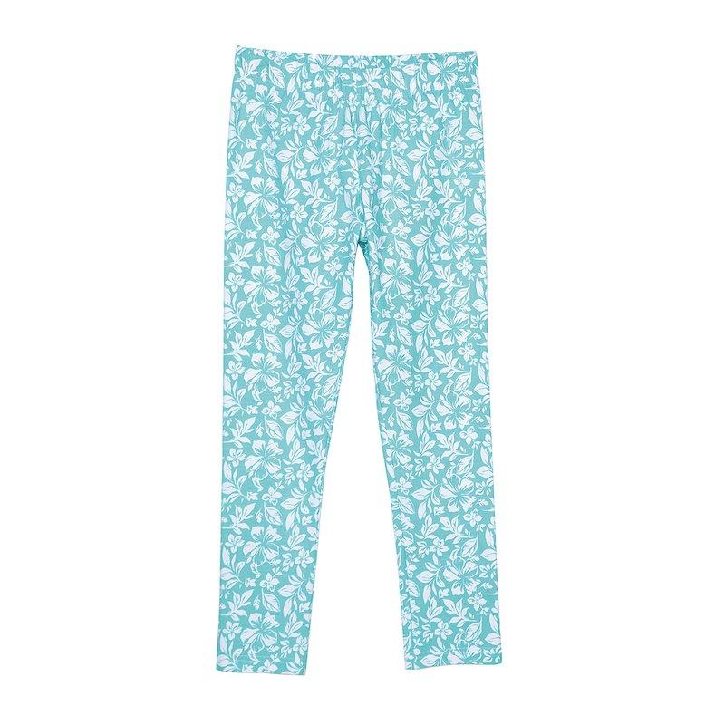 Legging capri mujer floral punto liso elástico