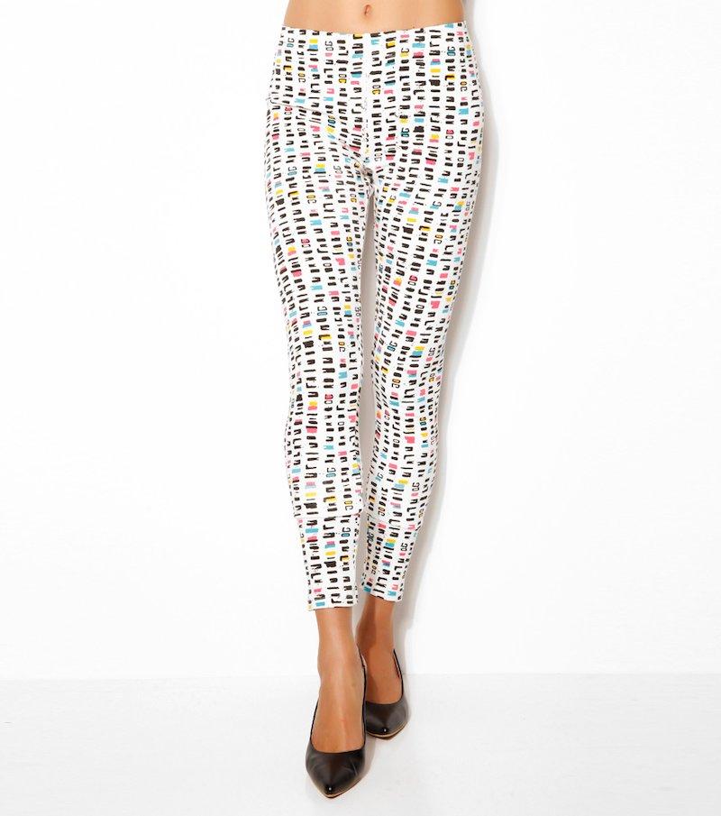 Pantalón legging tobillero mujer punto estampado