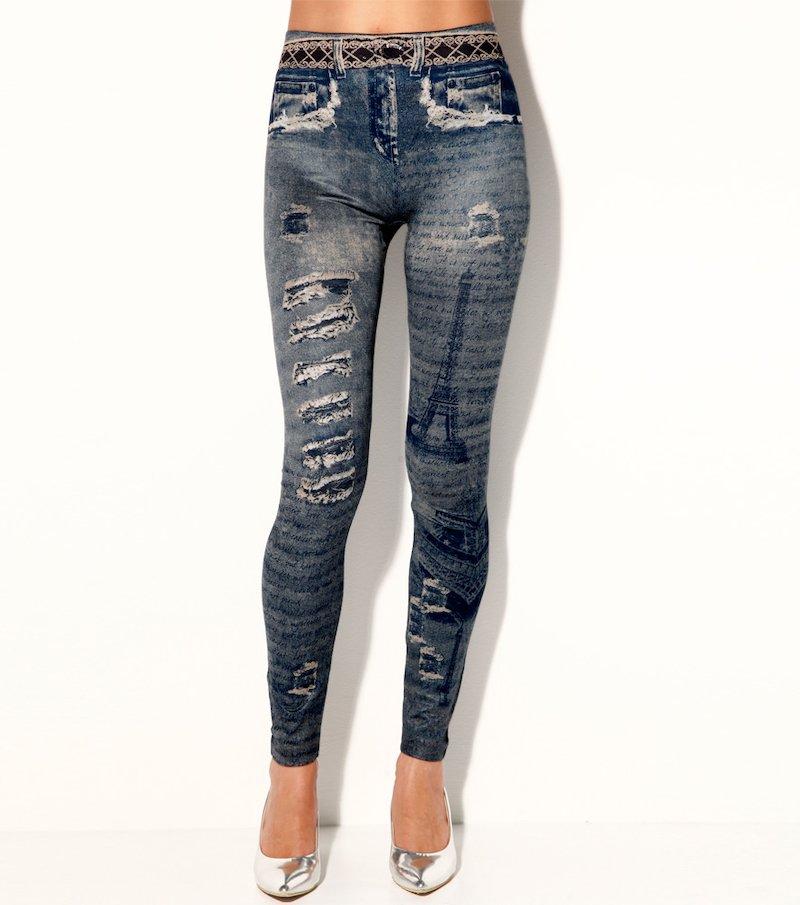 Pantalón largo legging mujer de símil jeans