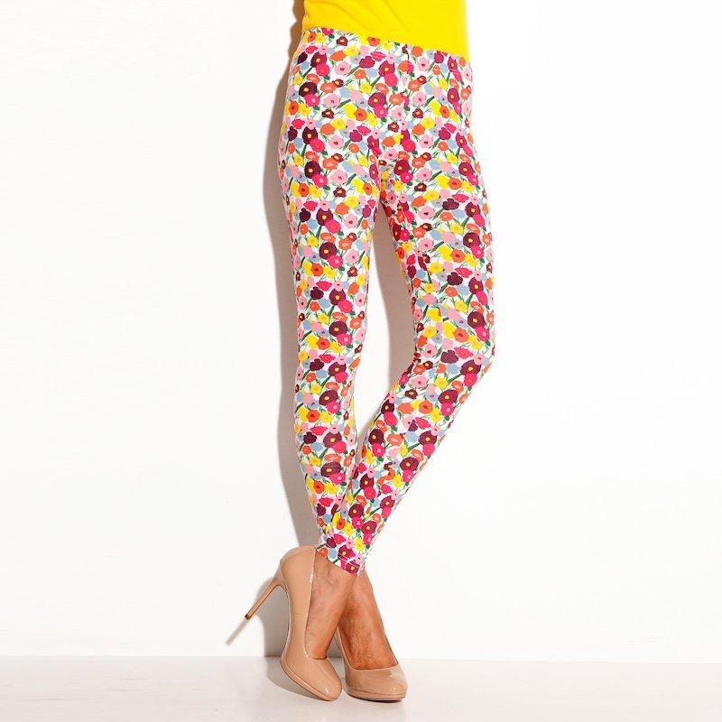 Pantalón legging corte tobillera de mujer punto - Blanco