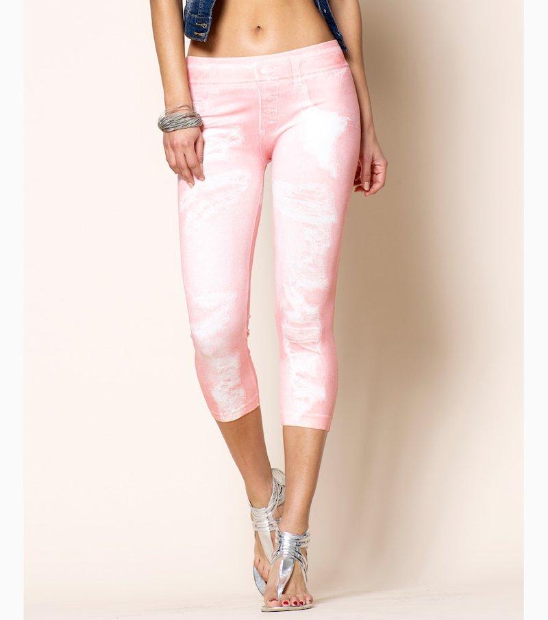 Pantalón legging mujer corsario símil jean