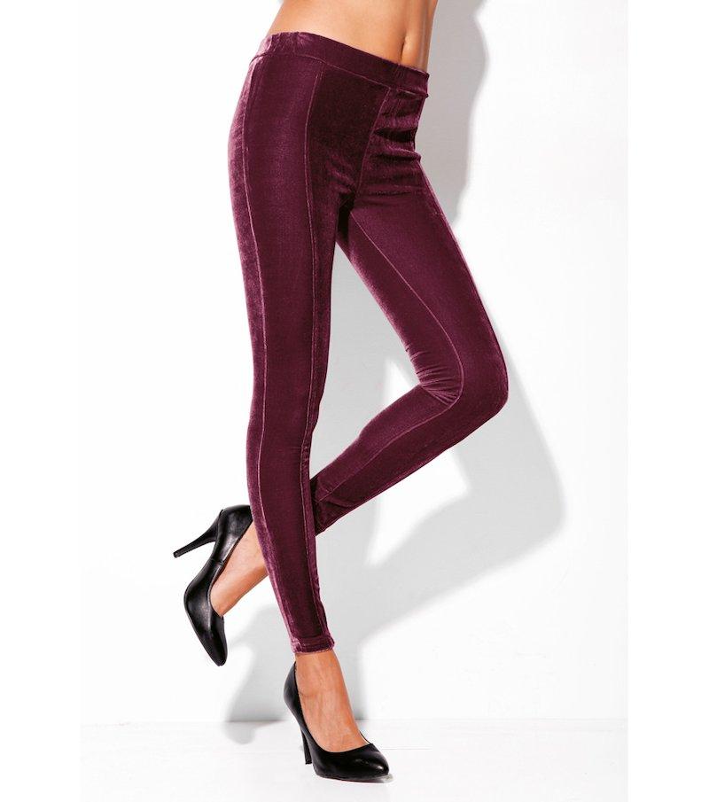 Pantalón largo legging mujer terciopelo elástico