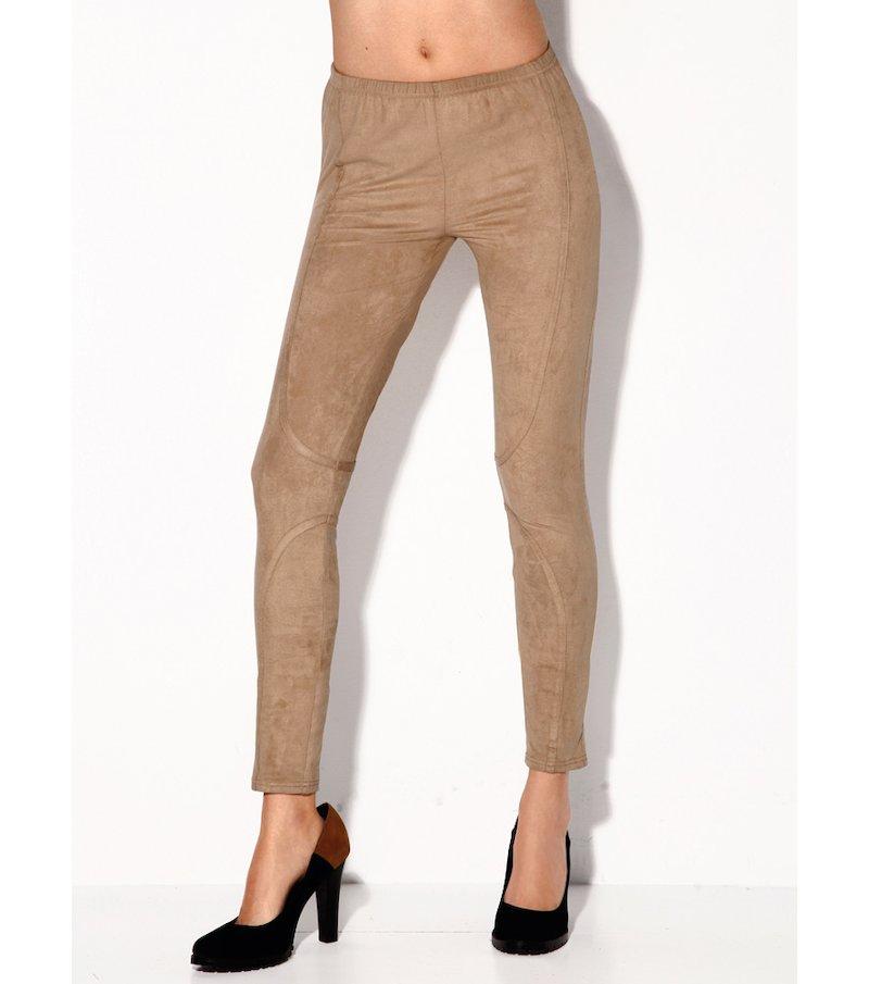 Pantalón pitillo mujer de antelina elástica